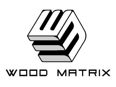 Wood Matrix mark geometry minimalism modern wood brand branding logo logomark cube