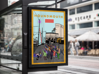 Houndmouth @ Thalia Hall new albany louisville houndmouth silos chicago love aliens illustration gig poster