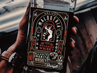 Ancient Maldothia labeldesign typography character illustration branding tequila whiskey snake lady serpent packaging bottle liqour bourbon label