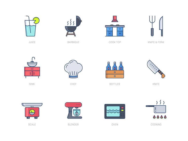 Icon Pack - Kitchen Set