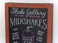 Shake Gallery chalkboard