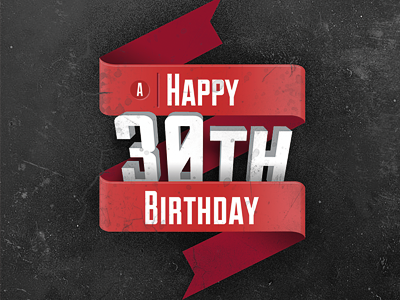 30th birthday card typography illustrator photoshop