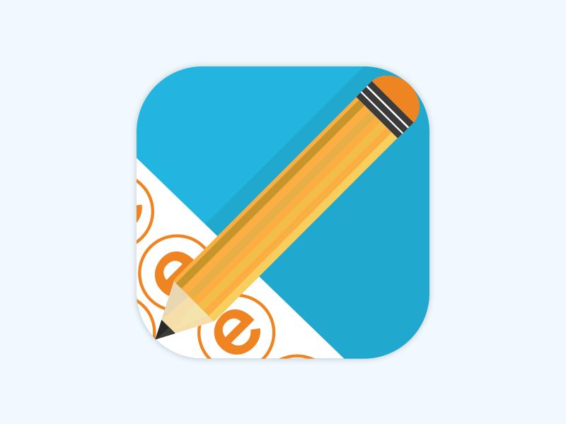 Passei Concurso icon & splash screen mobile screen splash pencil flat branding icon app