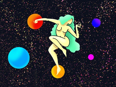 Space Woman woman scifi procreate ipad illustrator illustration freelance design