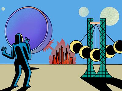 Three Body Problem scifi procreate ipad illustrator illustration freelance design