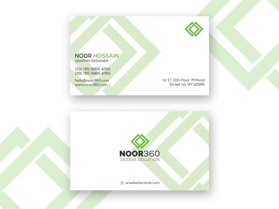 Business card visiting card design card business card design noor360 adobe illustrator cc adobe illustrator nh16