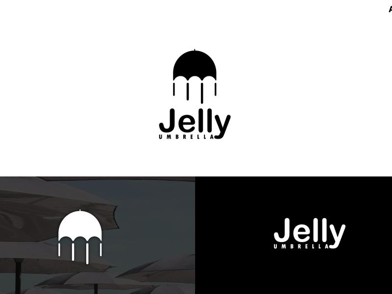 Jelly Umbrella - Logo Design - Aichkov adobe brand design behance dribbble graphic design freelance branding logo aichkov design