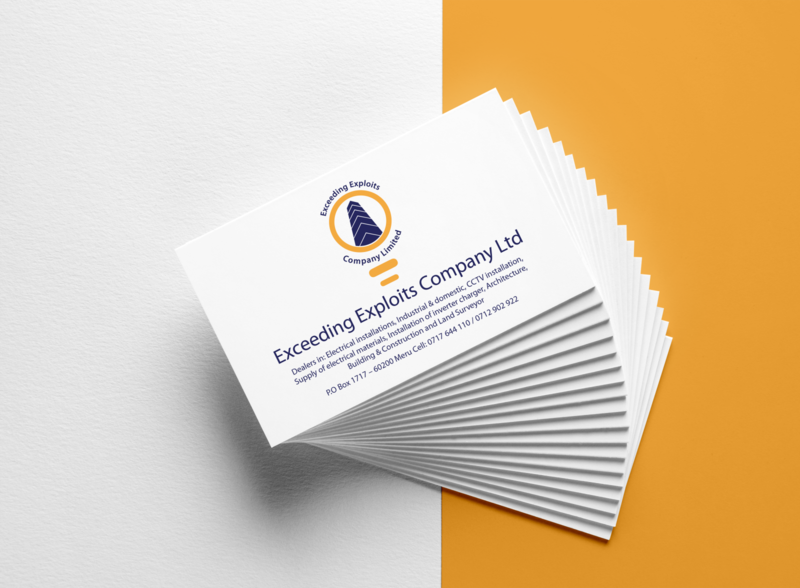Exceeding Exploits Company Limited businesscard business business card design mockup