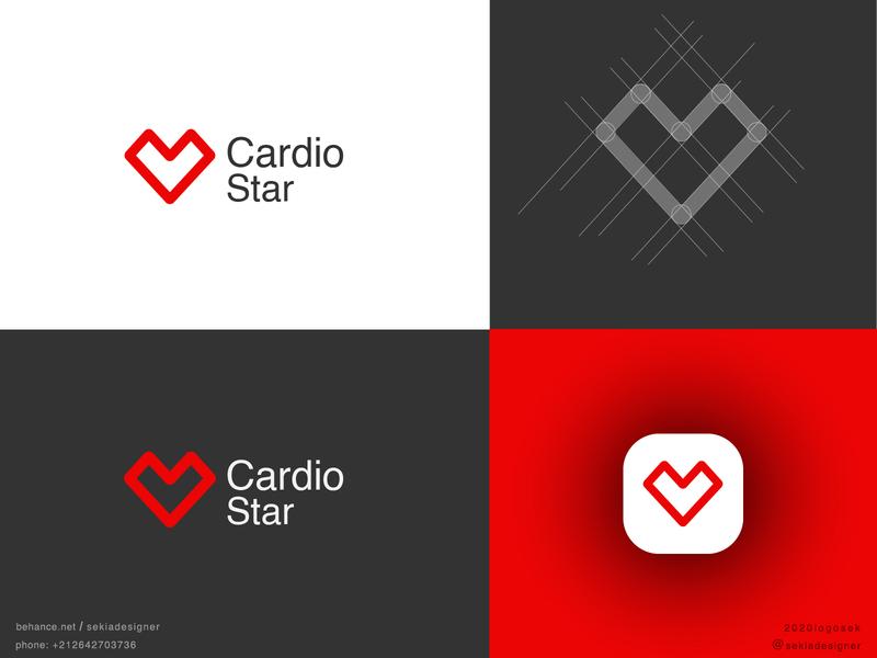 LOGO MARK  /  CardioStar logoinspire logoideas logos logofolio logo logotype logoidentity logoidea logo design brandinglogo