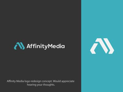 Affinity Media logo redesign concept logoidentity logodesign logotype logofolio logoinspire logoideas logoidea logo design brandinglogo