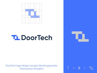 LOGO MARK / DoorTech logotype logodesign logoidentity logo logos logofolio logoinspire logoideas logoidea brandinglogo