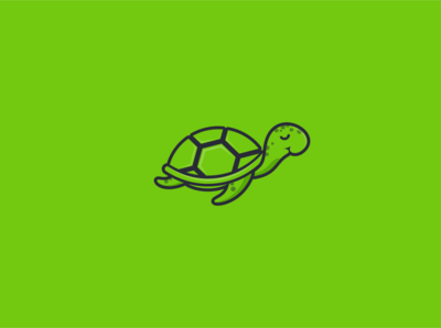 The lazy turtle logo