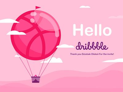 Hello Dribbble! hellodribbble illustraion debut shot debut