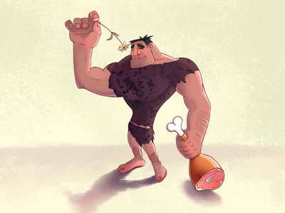 Primal primal character character design illustraion