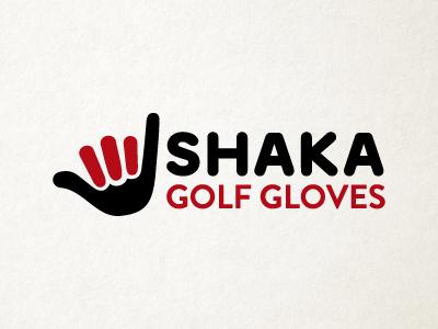Shaka golf gloves logo