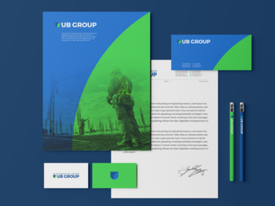 UBGroup stationery design branding logo brandidentity