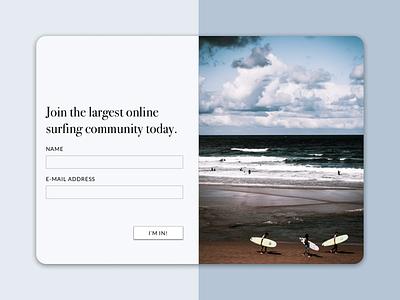 Daily UI Day 1: Sign Up dailyuichallenge website community login signup design flat ux ui dailyui 001 web dailyui