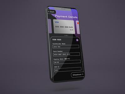 Daily UI Day 2: Credit Card Checkout daily ui dark payment checkout creditcardcheckout credit card dailyui 002 ux ui flat design dailyuichallenge dailyui