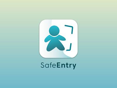 Daily UI Day 5: App Icon Redesign for SafeEntry illustration vector dailyui 005 daily ui icon app logo ux ui design dailyuichallenge dailyui