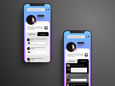 Daily UI Day 6: Social Media Profile branding daily ui app dailyui 006 community flat ux ui design dailyuichallenge dailyui
