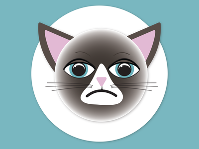 Grumpy Cat Emoji grumpy cat emoji illustrator illustration design