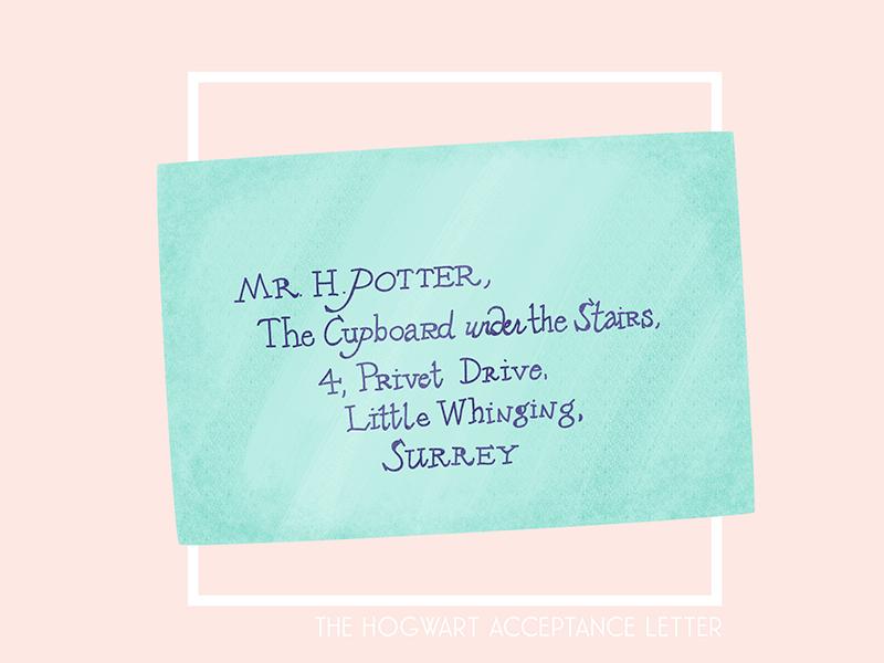26. the hogwart acceptance letter