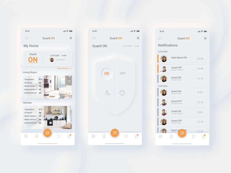 Mobile App for Home Security System