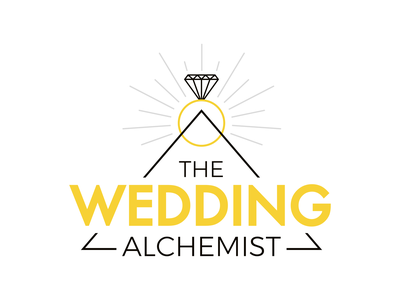The Wedding Alchemist flat minimal web vector branding logo design