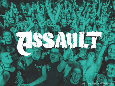 Assault Club Night Branding poster alternative metal rock logo design branding