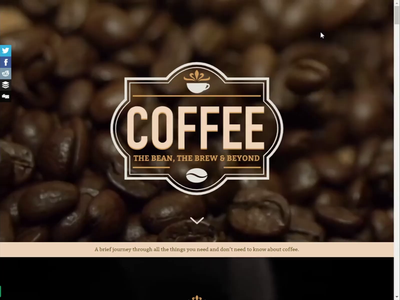 Visual Article: A guide To Coffee css html content marketing parallax article coffee