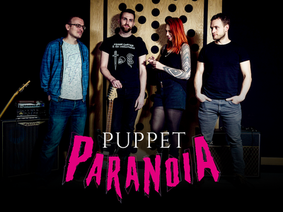 Puppet Paranoia Band Logo logo design branding logo design logo band rock music