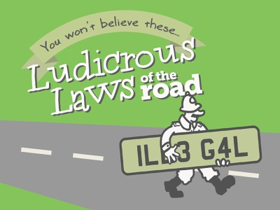 Infographic: Ludicrous Laws of the Road green wacom infographic design design illustration content marketing