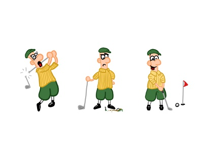 Golfing Illustration character wacom illustration
