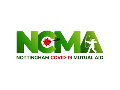NCMA Logo coronavirus covid-19 illustrator vector branding logo