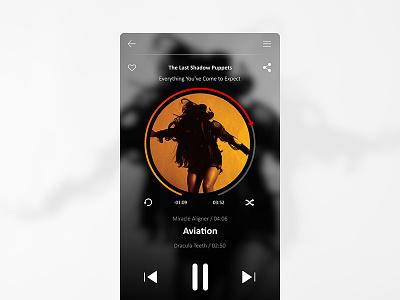 009 Music Player_Daily UI Challenge
