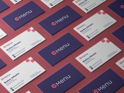 eMenu tech logo bussines card logodesign branding menu app food logo mark symbol شعار logo digital
