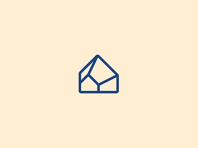 Alammar 3d graphic design minimal logo mark symbol house لوجو شعار interior design branding logo
