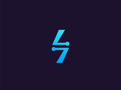 Seven Tech software vector logo mark symbol ui letter logo letter tech logo branding لوجو logodesign logo شعار tech 7 seven