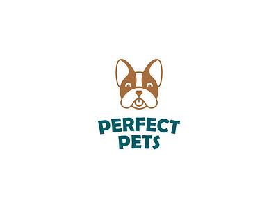 Perfect pets | Dog logo vector illustration brown doglogo symbol pet mark dog لوجو logodesign design شعار branding logo graphic design ui