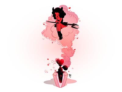 No. 9 hearts girl pink illustration art illustrator illustration vector artwork vector graphic vectorillustration vector illustration vector art vectorart vector