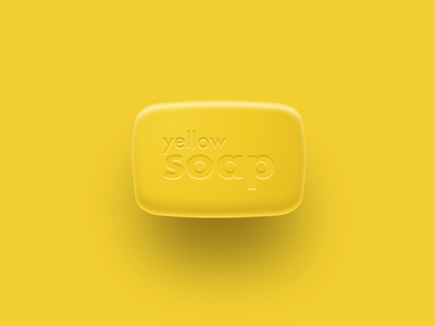 Yello soap yellow soap typography vector monocolor illustration