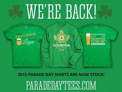 Parade Day Tees apparel t-shirt design branding online shop