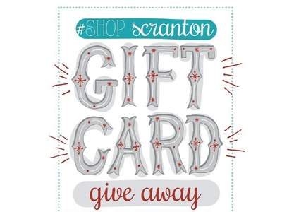 Shop Scranton Give Away hand lettering branding event promotion