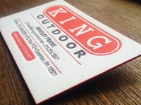 King Outdoor Business Card