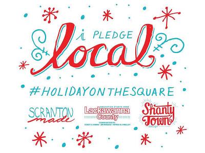 I pledge local hand lettering branding event promotion
