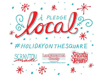 I pledge local hand lettering branding event promotion