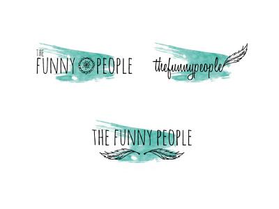 The Funny People logo design branding illustration