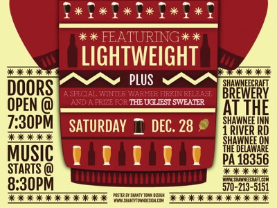 Ugly Sweater Party poster design illustration