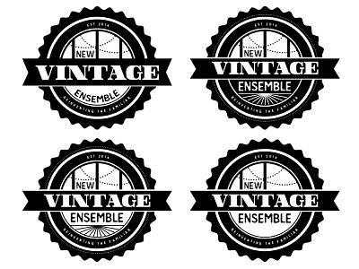 New Vintage Ensemble Logo branding logo design