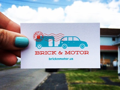 Brick & Motor business card design logo design branding
